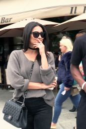 Shay Mitchell Spring Outfit Ideas - Il Pastaio in Beverly Hills 5/7/2016
