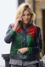 Sienna Miller Casual Style - Out in London 4/30/2016