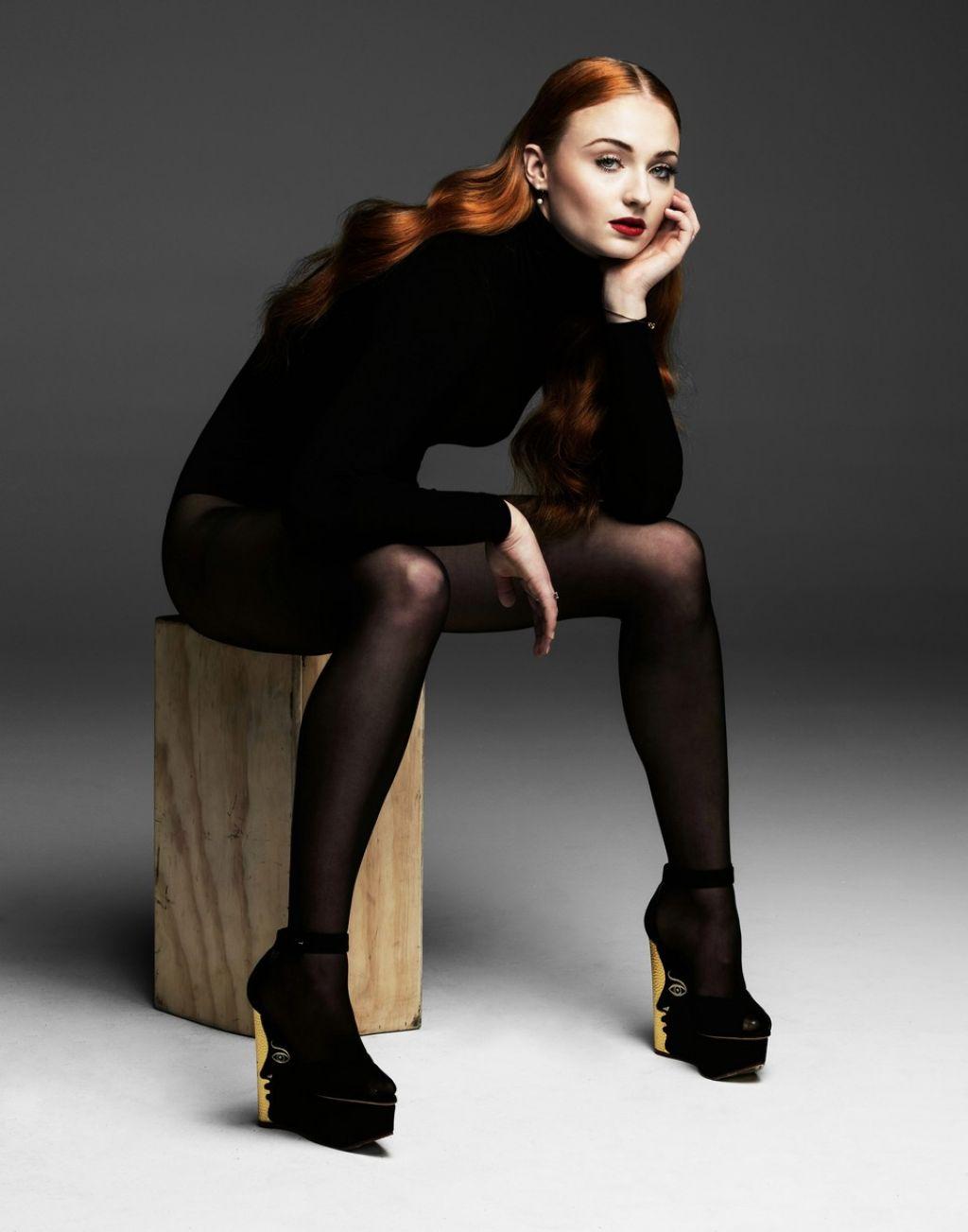 Sophie Turner - Sheer Black Stockings - Just Jared -7257