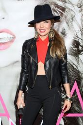 Thalia - Latina Album Launch Party and Signing Event Held at Hard Rock Cafe in NYC 5/10/2016