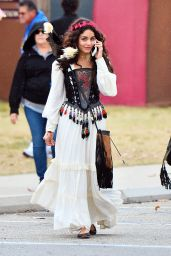 Vanessa Hudgens at the Renaissance Pleasure Faire in Irwindale, CA May 2016