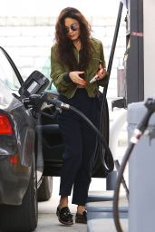 Vanessa Hudgens - Filling up Her Car in Los Angeles 5/23/2016