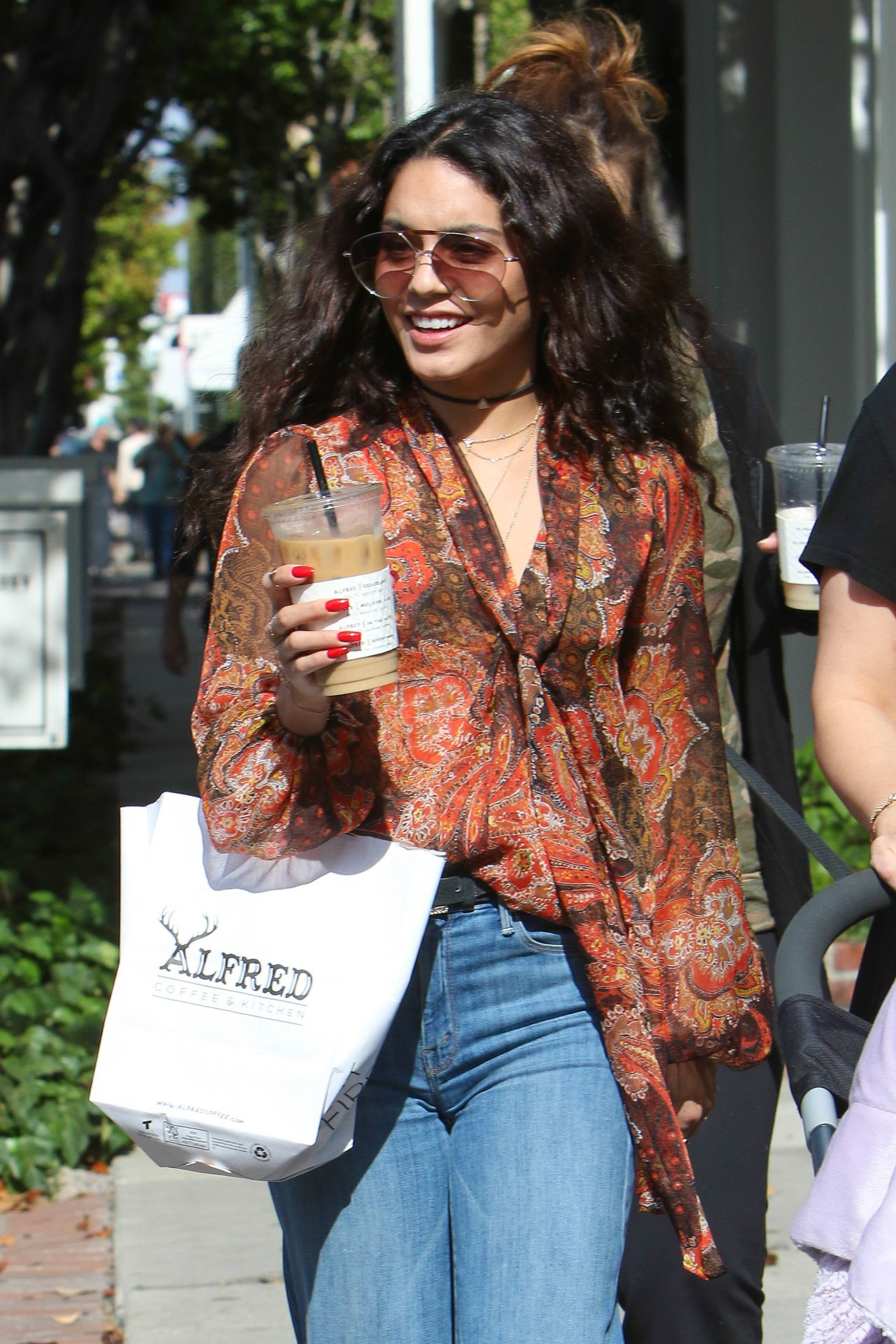 Vanessa Hudgens Urban Style Stops For Coffee At Alfred Coffee On Melrose Place In West
