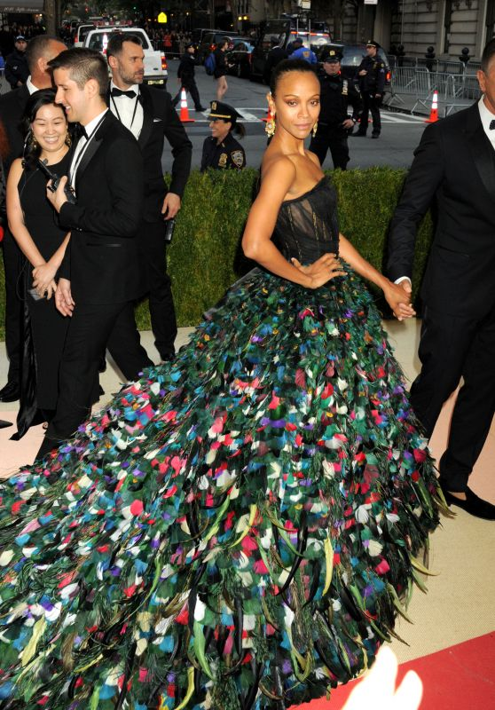 Zoe Saldana – 2016 Met Gala Held at the Metropolitan Museum of Art New York