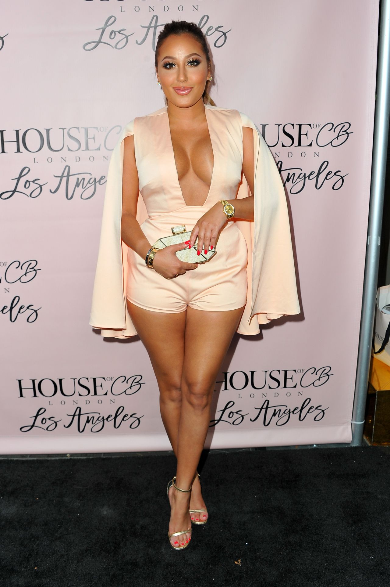 Adrienne Bailon House Of Cb Flagship Store Launch In Los
