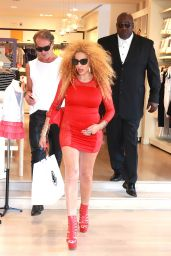 Afida Turner - Shops at Petit Bateau in Beverly Hills 6/5/2016