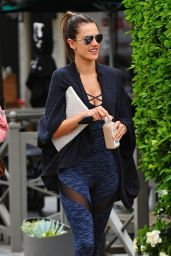 Alessandra Ambrosio in Tights - Leaving a Yoga Class in Brentwood 6/15/2016