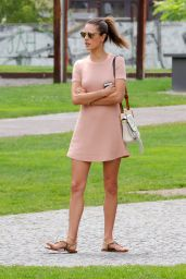 Alessandra Ambrosio - Visiting the Mauerpark in Berlin, Germany 6/28/2016