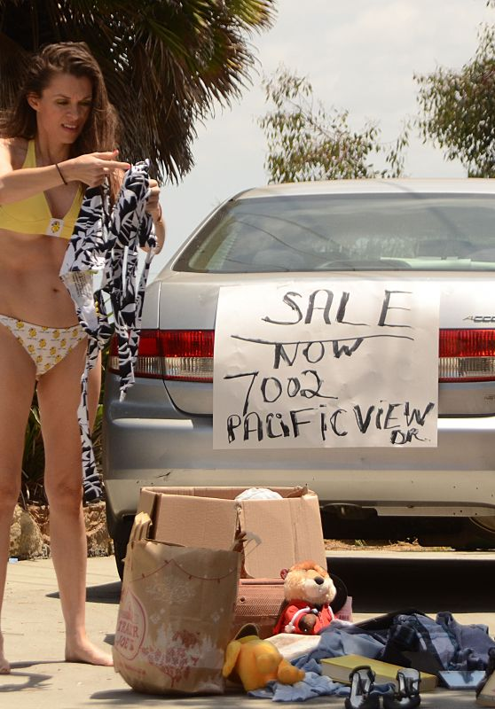 Alicia Arden in a Tiny Bikini - Having a Yard Sale in Los Angeles 6/26/2016