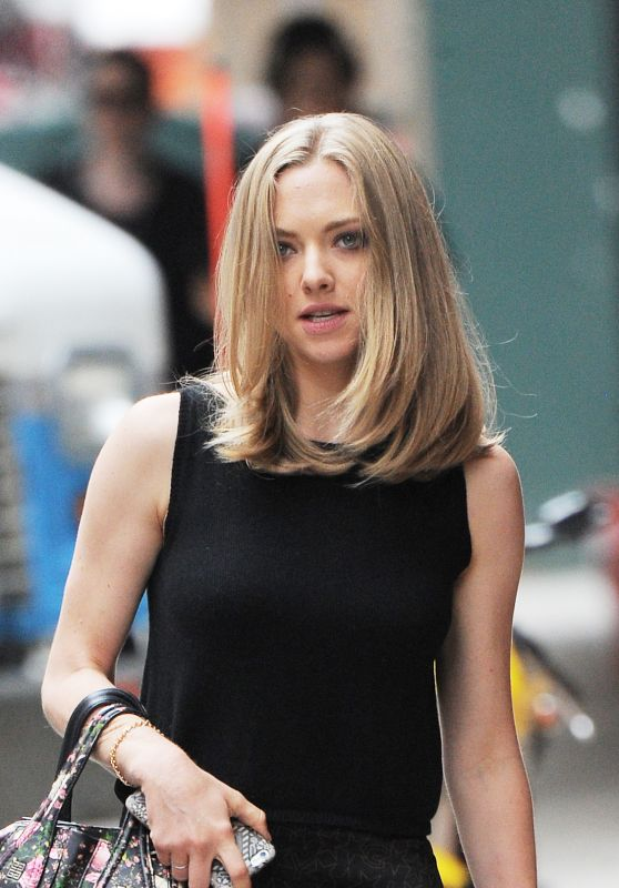 Amanda Seyfried Casual Style - Out With Finn in NYC 6/28/2016