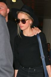Amber Heard Travel Outfit - at LAX Airport in Los Angeles 6/22/2016