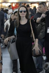 Angelina Jolie - Arriving at JFK Airport in New York 6/17/2016