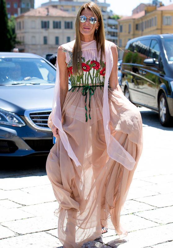 Anna Dello Russo at the Gucci Fashion Show - Milan Men