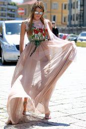 Anna Dello Russo at the Gucci Fashion Show - Milan Men