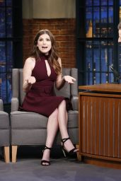 Anna Kendrick Appeared on Late Night With Seth Meyers in New York 6/21/2016