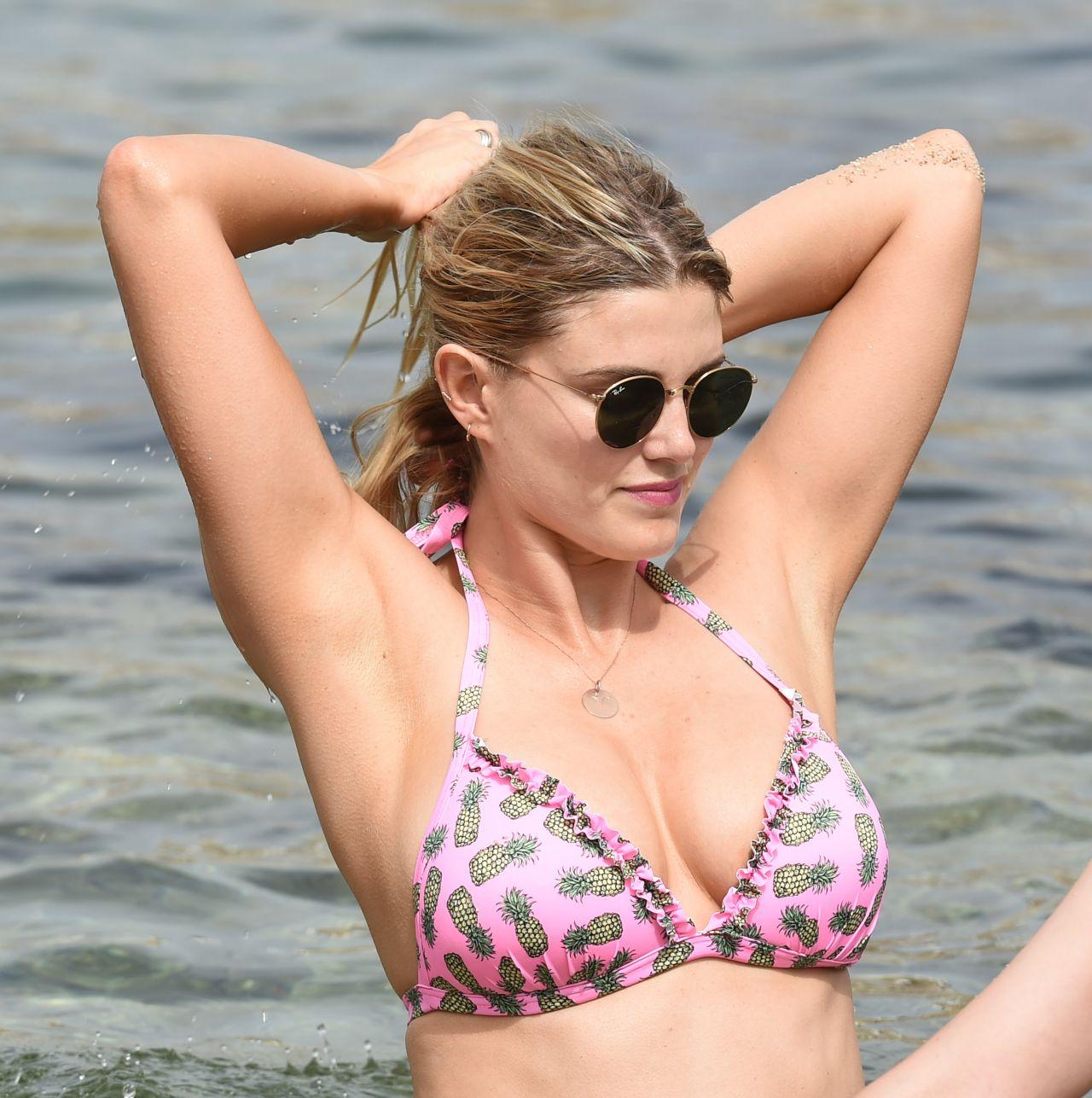 Ashley James Hot In Bikini Having Fun On The Beach In