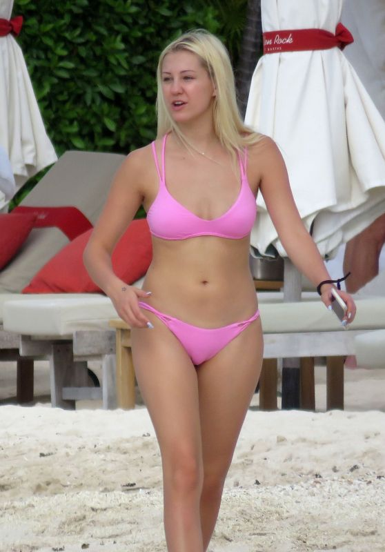 Ava Sambora in a Bikini at the Beach in St. Barts 6/26/2016