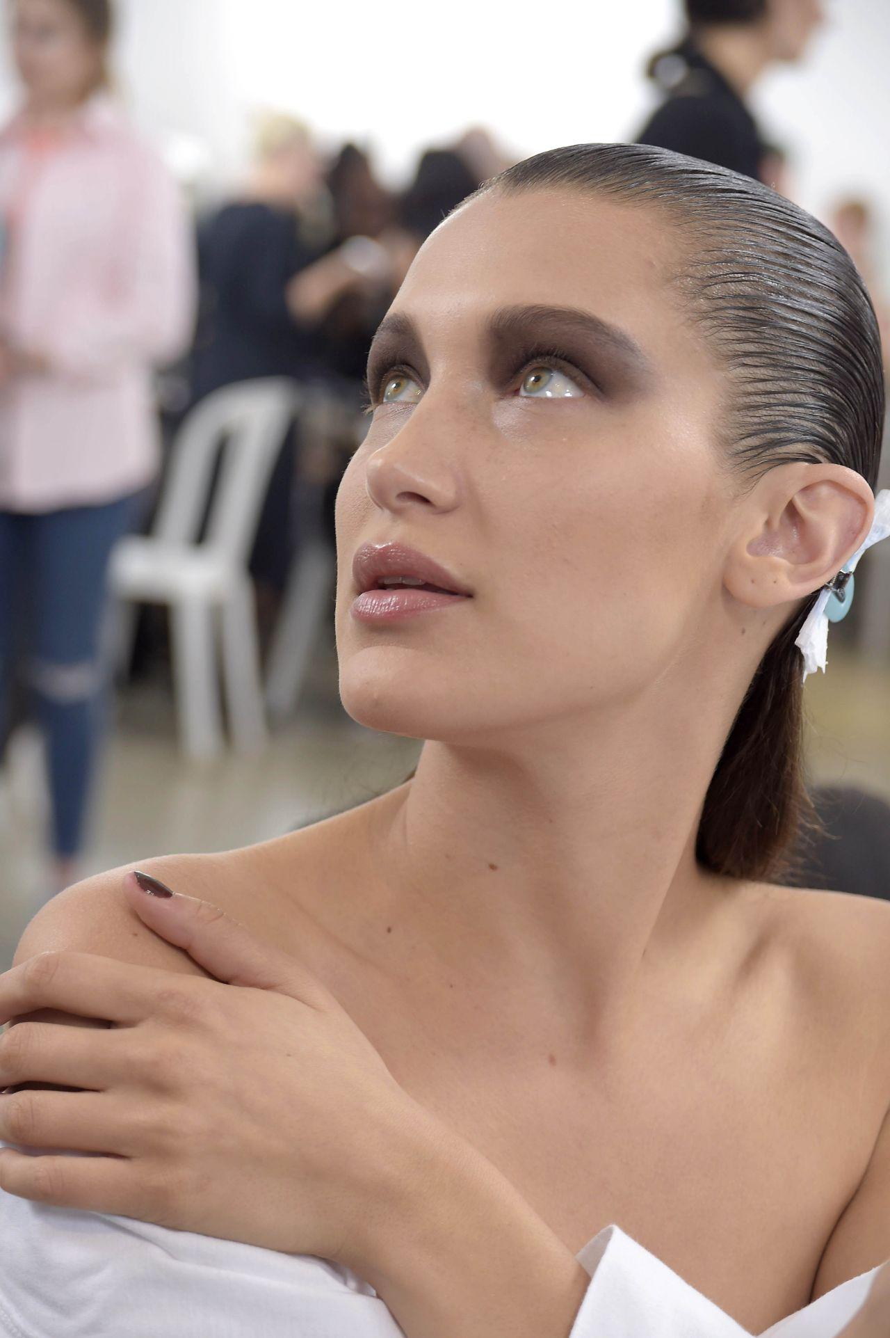Bella Hadid Christian Dior Cruise Fashion Show Backstage