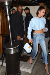 Bella Hadid Night Out Style - at The Nice Guy in West Hollywood 6/14/2016