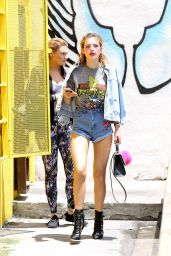 Bella Thorne Hot in Jeans Shorts - Out in Los Angeles 6/16/2016