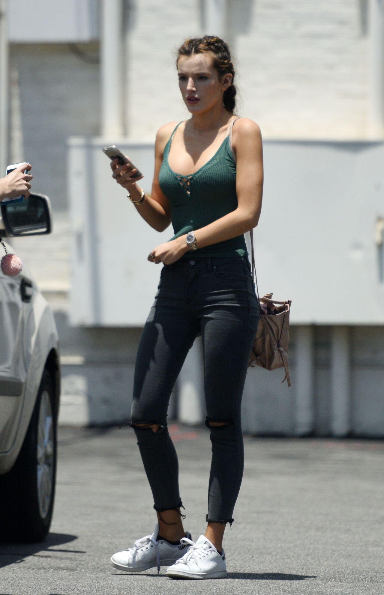 Bella Thorne Street Style Leaving Her Office In Los