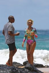 Beyonce in Swimsuit - On the Beach in Hawaii - June 2016