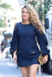 Blake Lively Chic Street Style - New York City 6/22/2016