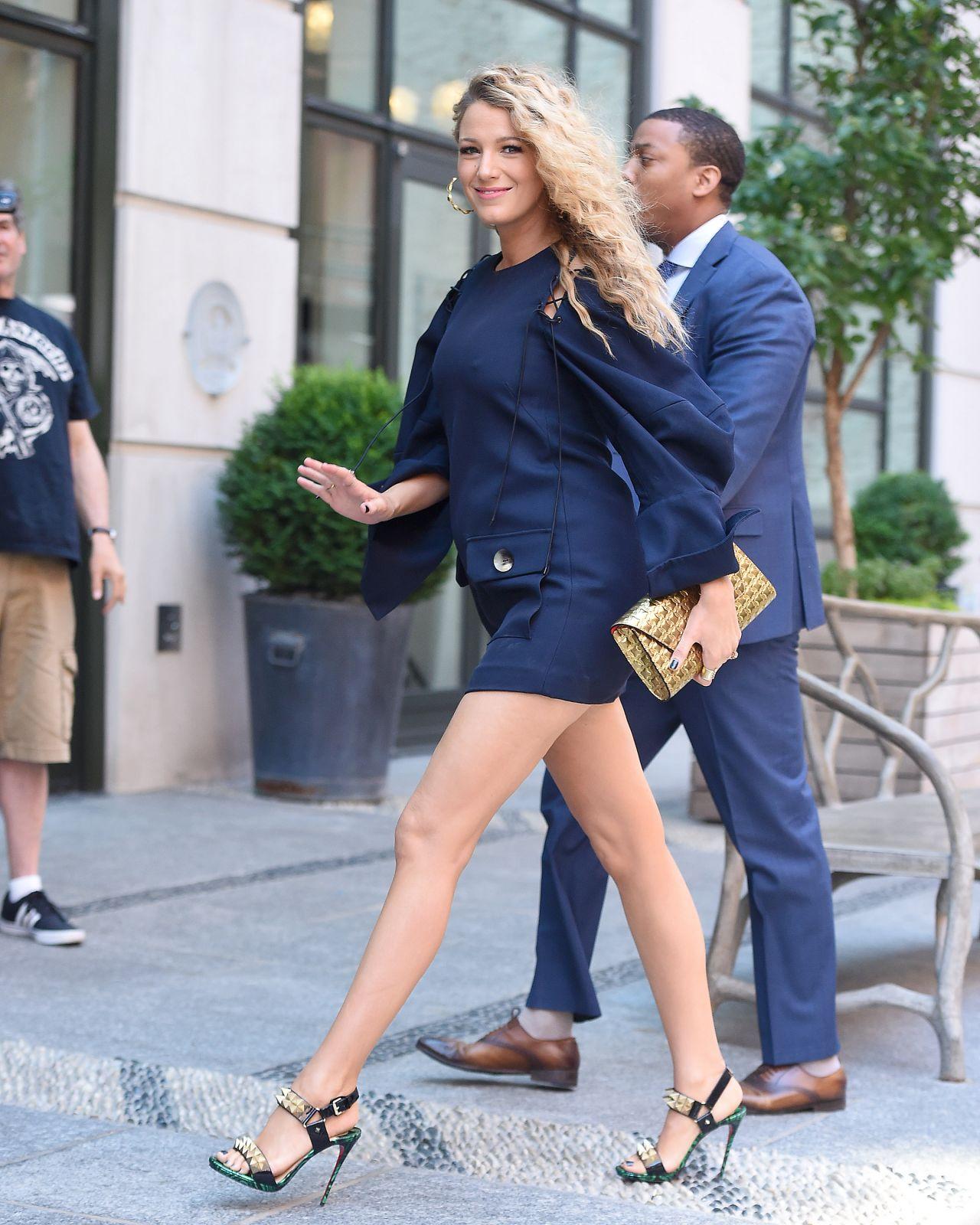 Blake Lively Chic Street Style - New York City 6/22/2016