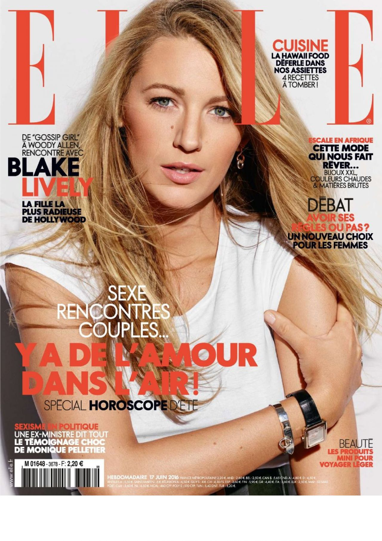 Blake lively elle magazine france june 2016 issue for Elle subscription change address
