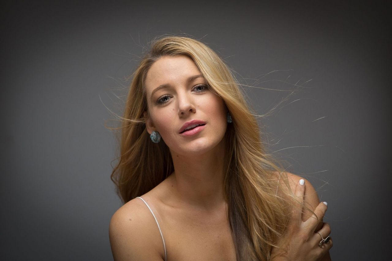 Blake Lively At Photoshoot for the Film Cafe Society