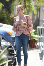 Brittany Snow at Coffee Bean and Tea Leaf in Los Angeles 6/16/2016