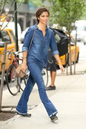 Camila Alves Look All Jeans - Out in New York City 6/28/2016