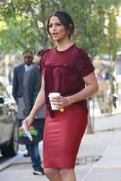 Camila Alves Office Chic Outfit - Leaving Her Hotel in New York City 6/14/2016