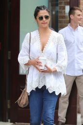 Camila Alves Street Style - Leaving Greenwich Hotel in New York City 6/27/2016