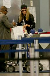 Cara Delevingne Travel Outfit - at JFK Airport in NYC 6/16/2016
