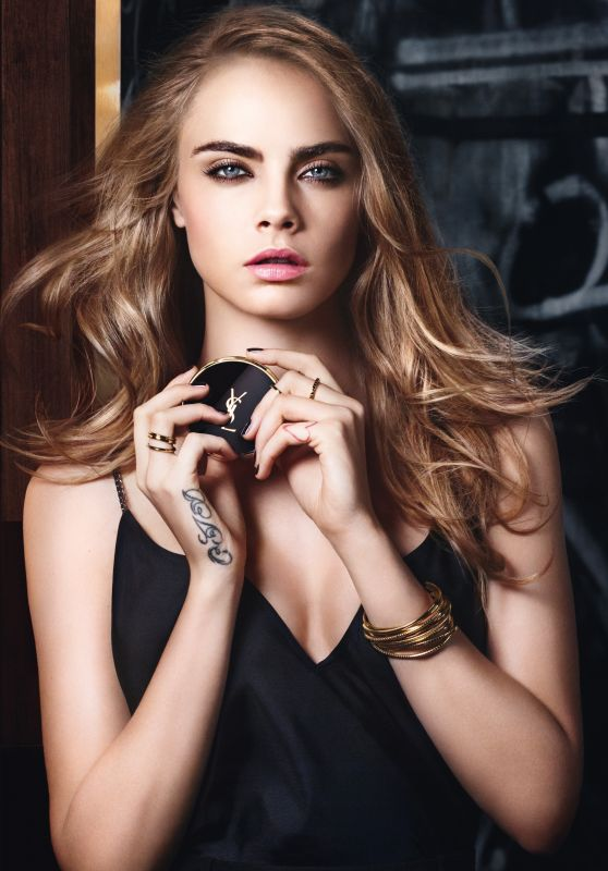 Cara Delevingne –  Yves Saint Laurent Vinyl Couture Mascara Campaign 2016 More Photos