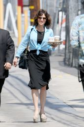 Carla Gugino Arriving to Appear on