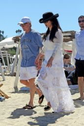 Catherine Zeta-Jones - Arrives at Club 55 in Saint Tropez, June 2016