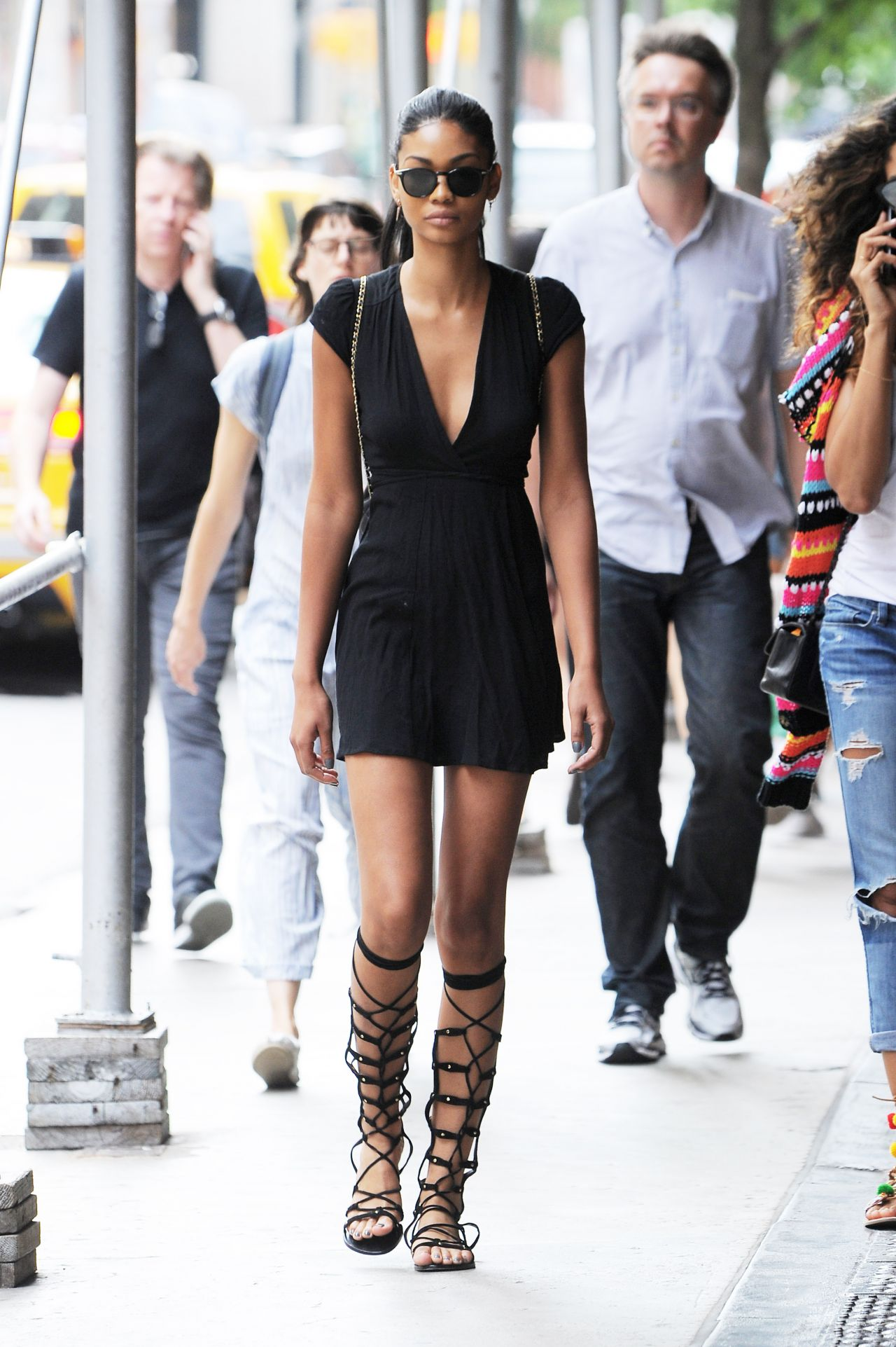 Chanel Iman Street Style Out In Manhattan In New York