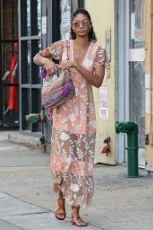 Chanel Iman Summer Outfit Ideas - Going For a Walk in the East Village of New York City 6/15/2016