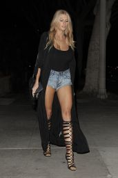 Charlotte McKinney Shows Off Her Long Legs - Leaves a Restaurant in Santa Monica 6/17/2016