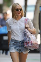 Chloe Sevigny in Ripped Jeans Shorts - out in New York City 6/21/2016