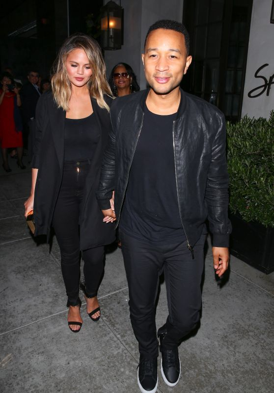 Chrissy Teigen at Spago in Beverly Hills 6/3/2016