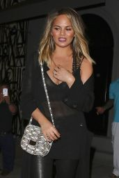 Chrissy Teigen Night Out Style - at Craig