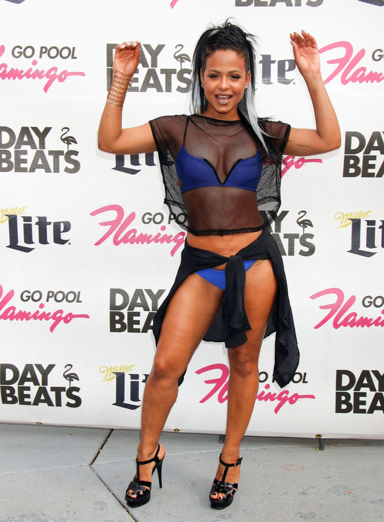 Christina milian in a bikini go pool at the flamingo in for Pool show las vegas 2016