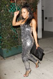 Christina Milian Night Out Style - At Mr Chows in Beverly Hills 6/27/2016