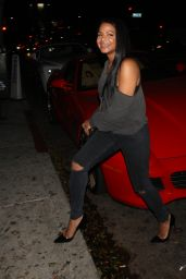 Christina Milian Night Out Style - Goes To Warwick Night Club To Party in Hollywood 6/22/2016