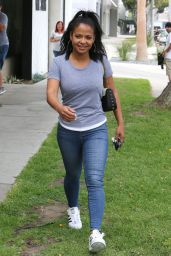 Christina Milian Street Style - Out in West Hollywood, 6/9/2016