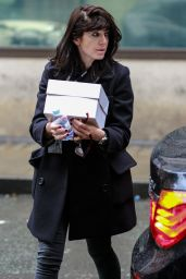 Claudia Winkleman - Arriving at BBC Radio Two Studios in London, May 2016