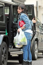 Daisy Lowe - Out Shopping for Cothes and Groceries in London 6/5/2016